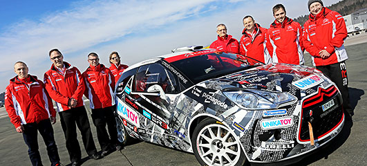 Grega Premrl and Gregor Brešer - Citroën DS3 R3T - presentation before 2015 season