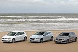 Mercedes-Benz A, Volkswagen Golf in Volvo V40